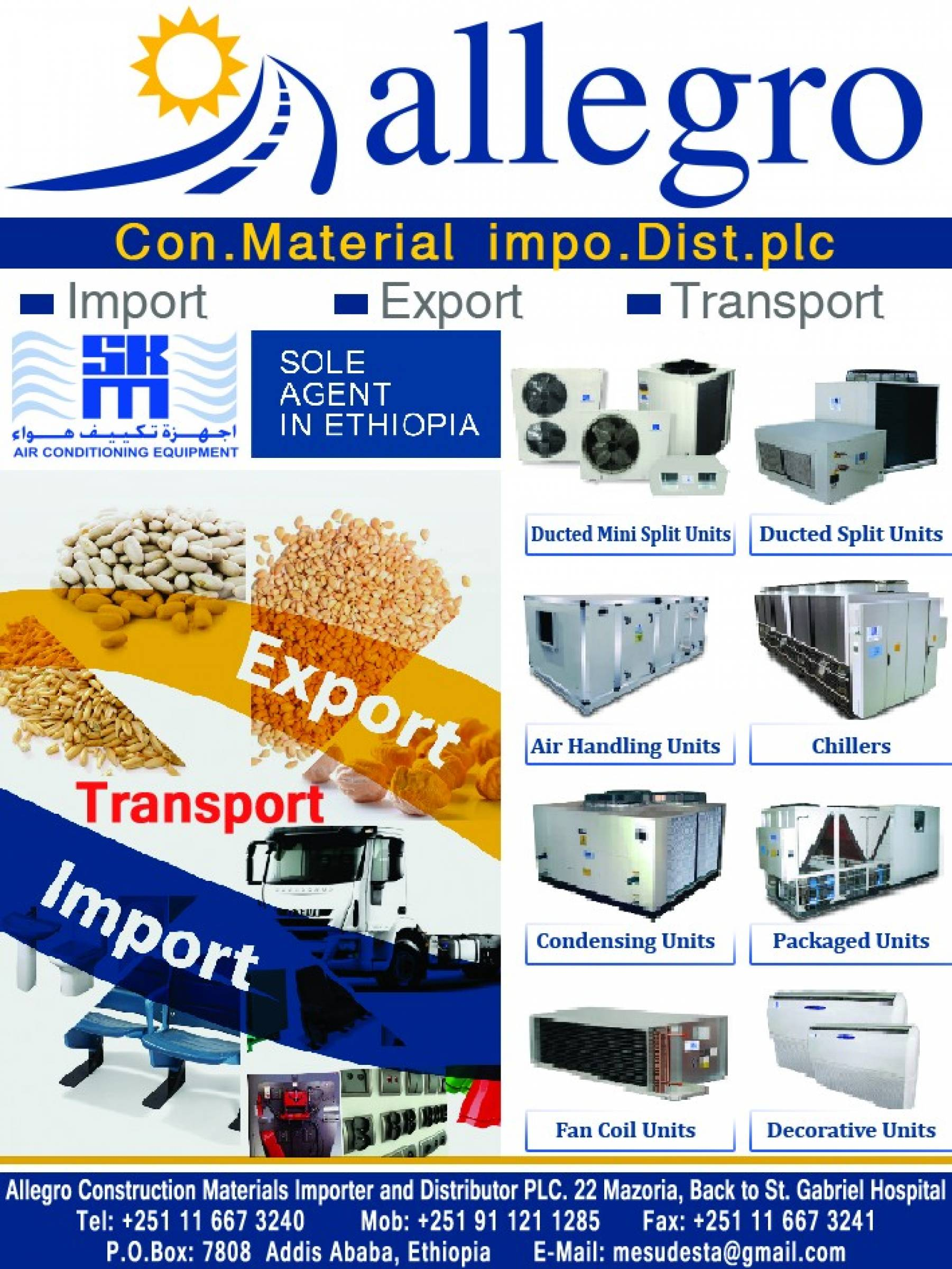 Allegro Construction Materials Importer and Distributor PLC